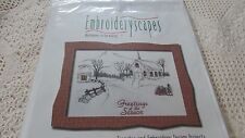 NOS EMBROIDERYSCAPES CHRISTMAS GREETINGS Of The SEASON  Kit Disk NEW SEALED