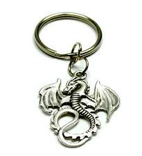Drachen Schlüsselanhänger Silberfarben 35mm*30mm inkl.Schlüsselring Durchm. 25mm