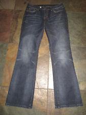 "VICTORIA'S SECRET 8 x 31"" London Jeans Dark Stretch Low Rise Boot Leg EUC B"