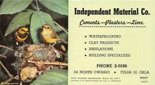 Independent Material Cements Two Hooded Warblers Small Advertising Blotter