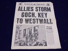 1945 FEBRUARY 19 NEW YORK DAILY NEWS - ALLIES STORM GOCH - NP 1999