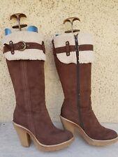 bottes marrons Pointure 38  marque GRACELAND occasion bon etat general