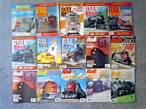 15 RAIL CLASSICS MAGAZINE from 1980's