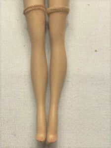 STOCKING BARBIE White Textured Net Beautiful Fit Awesome Hand Made