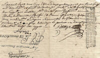 1705 MArquis De Vabres manuscript justice statement document oncial signature