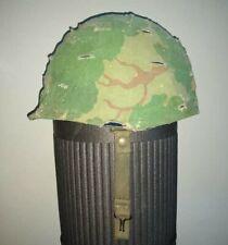 Us Army M-1 helmet - Vietnam War Era: Stamped 1212J - With Camo Cover