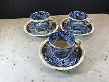 Masons Ironstone Set Of Three Vintage Coffee Cups And Saucers