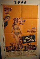 Made in Paris Original 1sh Movie Poster '66 super sexy full-length Ann-Margret