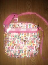 LeSportSac Pink/White Novelty Print Hot Dog Ice Cream Cute Print Crossbody Bag