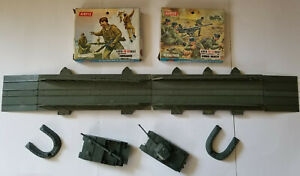 Vintage Airfix Pontoon Bridge Assault Set (parts only no box) Tanks-Soldiers