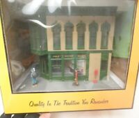 ✅MTH RAILKING JEWELRY STORE CORNER CITY BUILDING 30-9035! O GAUGE TRAIN LIGHTED