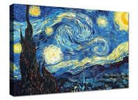 Quadro Moderno Cm 100x70 Stampa su Tela Arredamento Arredo Casa Van Gogh