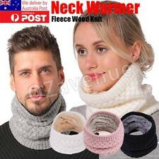 Women Lady Winter Warmer Knitted Snood Neck Circle Wool Cowl Scarf Wrap Scarves
