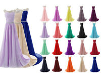 Plus Size 6-30 Long Prom Evening Bridesmaid Dresses Formal  Cocktail Party Gowns