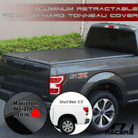 For 2014-2021 Tundra 5.5 Ft Bed Aluminum Retractable Roll-Up Hard Tonneau Cover
