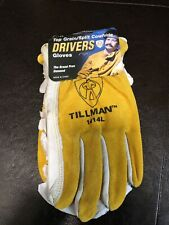 "New Tillman 48 MIG Grain Goatskin Split 3 1//2/"" Cuff Cowhide Welding Gloves M XL"