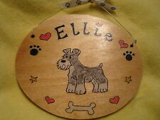 Personalised Oval Schnauzer Dog Kennel Garden House Sign Plaque Garden Memorial