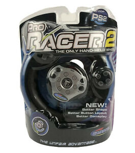 Radica Gamester Pro Racer 2 Steering Racing Wheel For Playstation 2 PS2 NEW