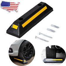 New listing Long Heavy Duty Rubber Block Parking Curb Guide Car Wheel Stop Garage Driveway
