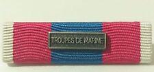 Rappel  Médaille DEFNAT Défense Nationale ARGENT avec agrafe TROUPES DE MARINE