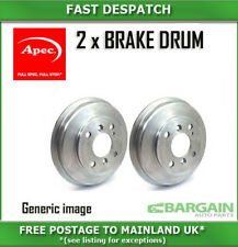 2 X REAR BRAKE DRUMS FOR HYUNDAI DRM9171