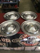 1957 OLDSMOBILE OLDS 88 HUBCAP WHEELCOVER SET (4) 88 98 FIESTA 14""