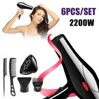 6Pcs 2200W Grand Salon Coiffure Professionnel Peigne Sèche-cheveux Hair Dryer FR