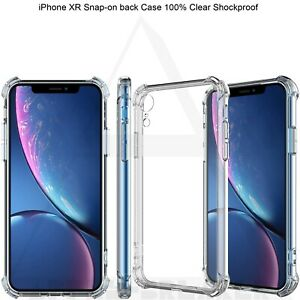 Shockproof Soft Silicon Gel Clear Raised Corner Case Cover For iPhone XR UK