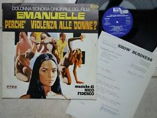 EMANUELLE Perche' Violenza Alle Donne? Nico Fidenco LP 1977 Beat Records LPF 039