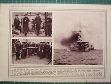 1915 WWI WW1 PRINT ~ MEN OF THE SCHARNHORST CRUISER GNEISENAU ~ SAILORS