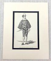 1889 Antico Stampa Curio Dodicesimo Notte William Shakespeare Carattere Costume