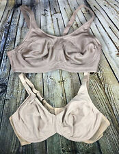 QVC Breezies And Barely Breezies Set Of 2! Underwire Ultimair Bras - 40C