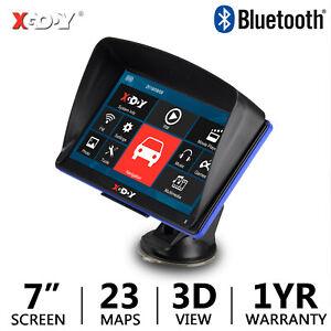 "2021 Newest 7"" 886 GPS Navigation System 8GB Bluetooth FM SAT BAV Free EU+AU Map"