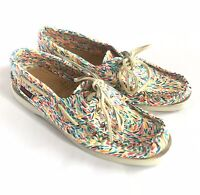 Sebago Women's Docksides Boat Shoes Karter Print Size 6.5 M Multicolor