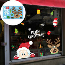 Christmas Wall Stickers Home Shop Showcase Party Door Window Decor Stickers UK