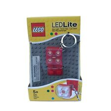 LEGO Led Light Red Block Key Chain New Collectors