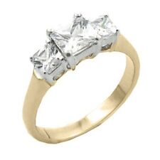 14K GOLD EP 3.0CT DIAMOND SIMULATED ENGAGEMENT RING 6 or M
