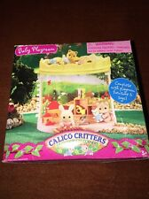 NEW Calico Critters Baby Playroom with Furniture & Toys Rare