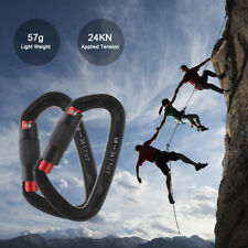 24KN Climbing Carabiner Clips Auto Locking Carabiners for Rock Mountaineering