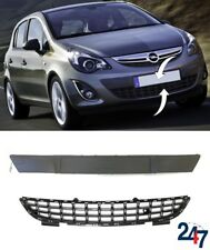 NEW VAUXHALL OPEL CORSA D 11-15 FRONT BUMPER LOWER GRILLE CENTER MOULDING SET