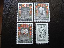 AUTRICHE - timbre - yvert et tellier n° 1103 a 1106 n** - stamp austria (A3)