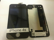 Reemplazo de Apple iPhone 4s (Negro) Pantalla Original Vidrio Pantalla LCD y cubierta trasera