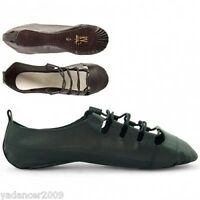 Scottish Highland Dance Ghillies Shoes Pumps Leather Full Suede Sole 1st Position