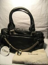 NEW TAG $1980 CHLOE Paddington Navy Leather Lock Key Bag Satchel Handbag Purse