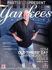 2014 NEW YORK YANKEES OLD TIMER'S DAY GOOSE GOSSAGE PROGRAM ORIOLES 6/22