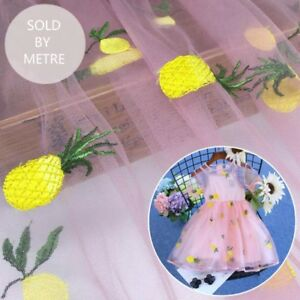 Pineapple Tulle Fabric Lace Embroidery Net Cloth Dress Tutu Materials By Metre