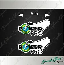 "Power Pro Fishing Logo / Pair / 5"" Vinyl Adhesive Decals Pair"