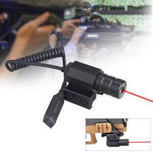 Tactical Red Dot Laser Beam Sight Scope Rail Mount Switch Rifle Pistol Air Gun