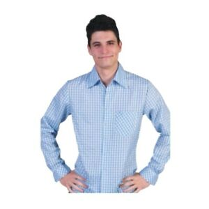 Blue And White Checkered Shirt Forrest Gump Costume Button Down Dress Running