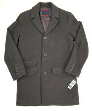Tommy Hilfiger Mens Wool Top Coat Jacket Brown Twill Size...